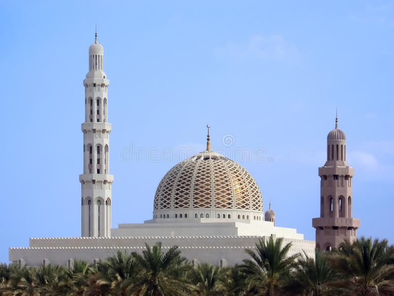 Sultan Qaboos Mosque Oman Royalty Free Stock Image