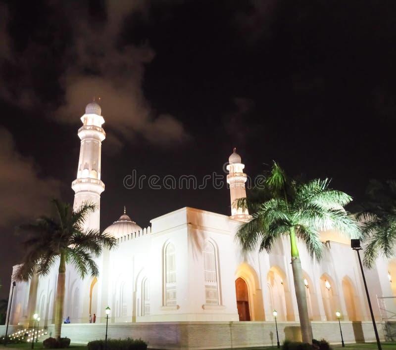 Sultan Qaboos Mosque Salalah iluminado fotos de archivo