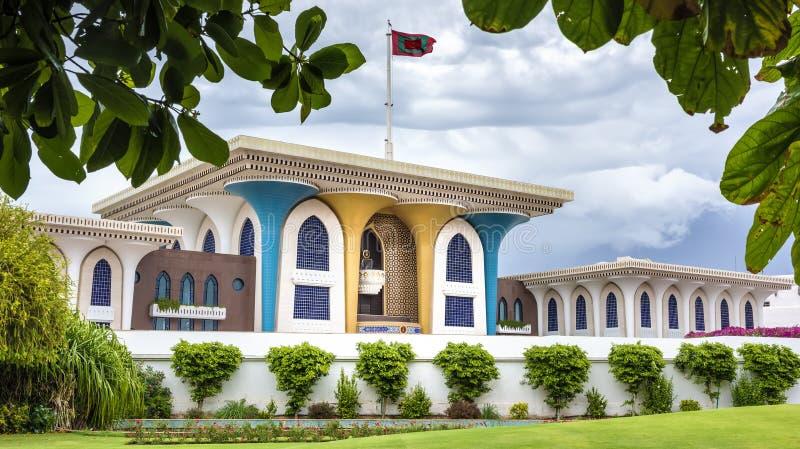 Sultan Qaboos Palace royaltyfria bilder