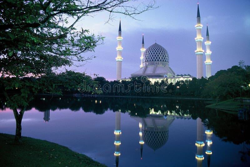 Sultan Salahuddin Abdul Aziz Mesquita foto de stock
