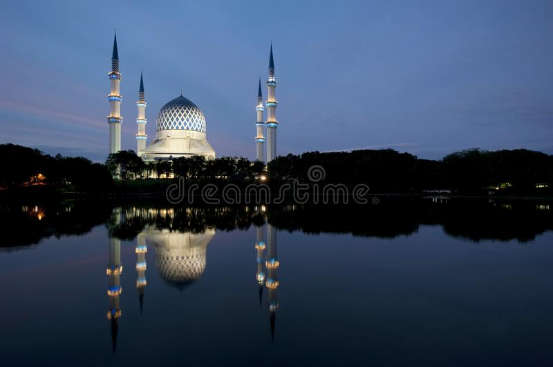 Sultan Salahuddin Abdul Aziz Mosque. The Sultan Salahuddin Abdul Aziz Shah Mosque is the state mosque of Selangor, Malaysia. It is located in Shah Alam. It is stock photography