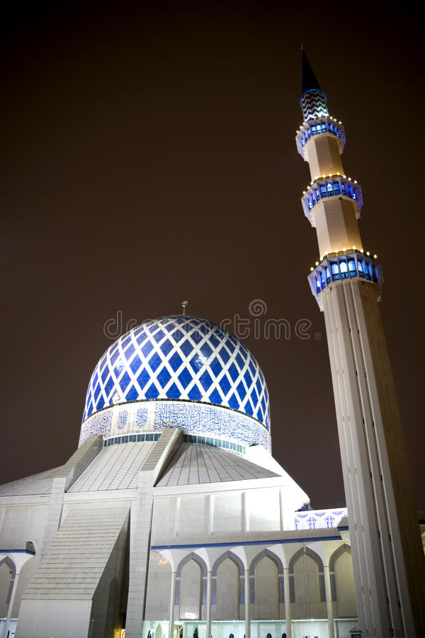 Sultan Salahuddin Abdul Aziz Shah Mosque Stock Photo