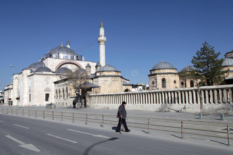 Sultan Selim Mosque och Mevlana museum arkivbilder