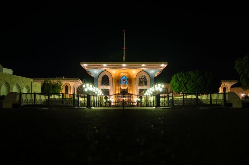 Sultan slott på natten royaltyfria foton