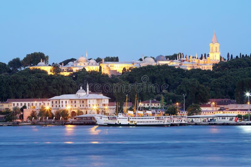 Sultan Topkapi Palace (Topkapi Sarayi) in Istanboel, Turkije royalty-vrije stock afbeelding