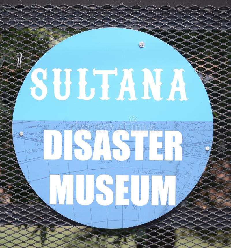 Sultana Disaster Museum Logo, Marion Arkansas royalty free stock images