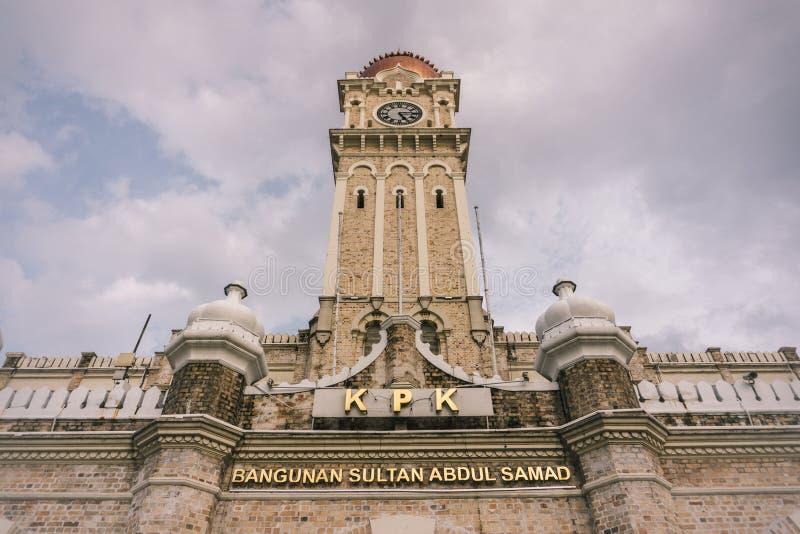 SultanAbdul Samad byggnad, Kuala Lumpur royaltyfria bilder