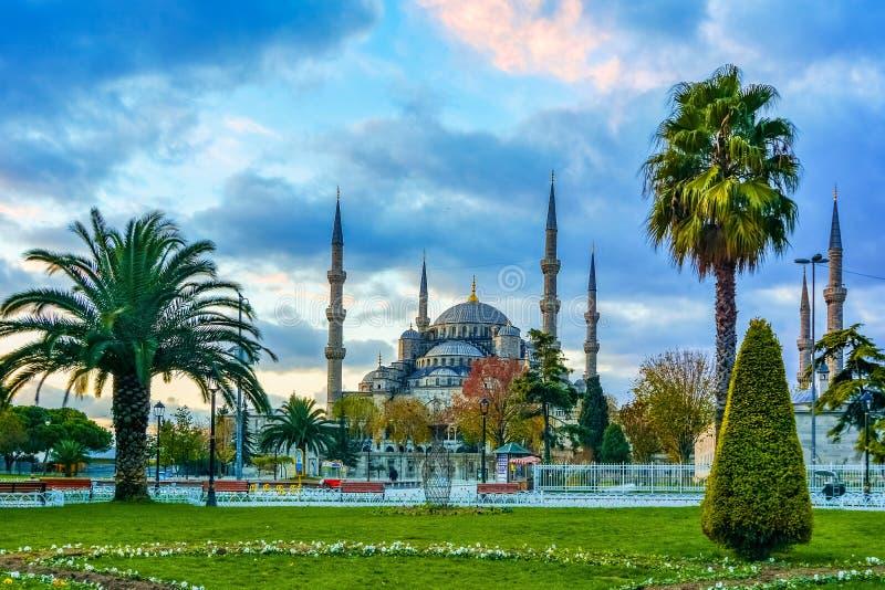 SultanAhmed moské eller blå moské, Istanbul, Turkiet arkivbilder