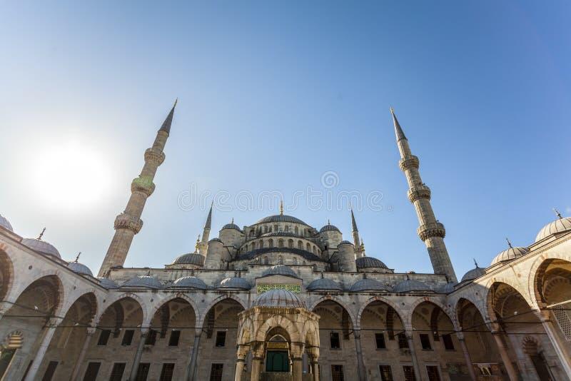 Sultanahmentmoskee (Blauwe Moskee) royalty-vrije stock foto