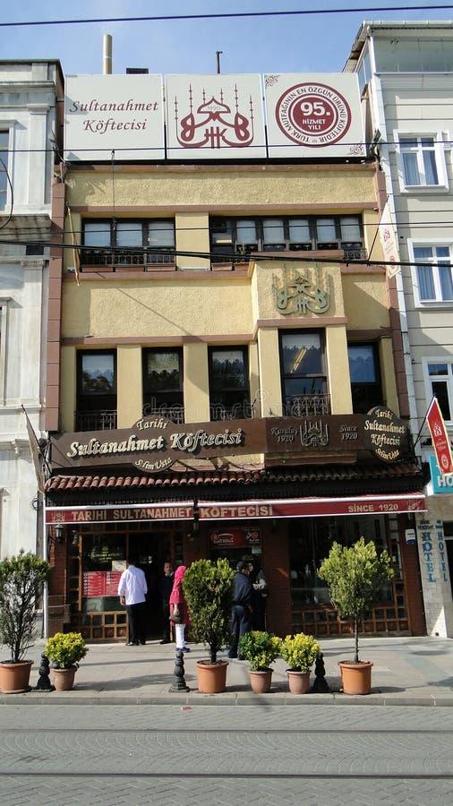 Sultanahmet在伊斯坦布尔火鸡的köftecisi丸子 库存图片