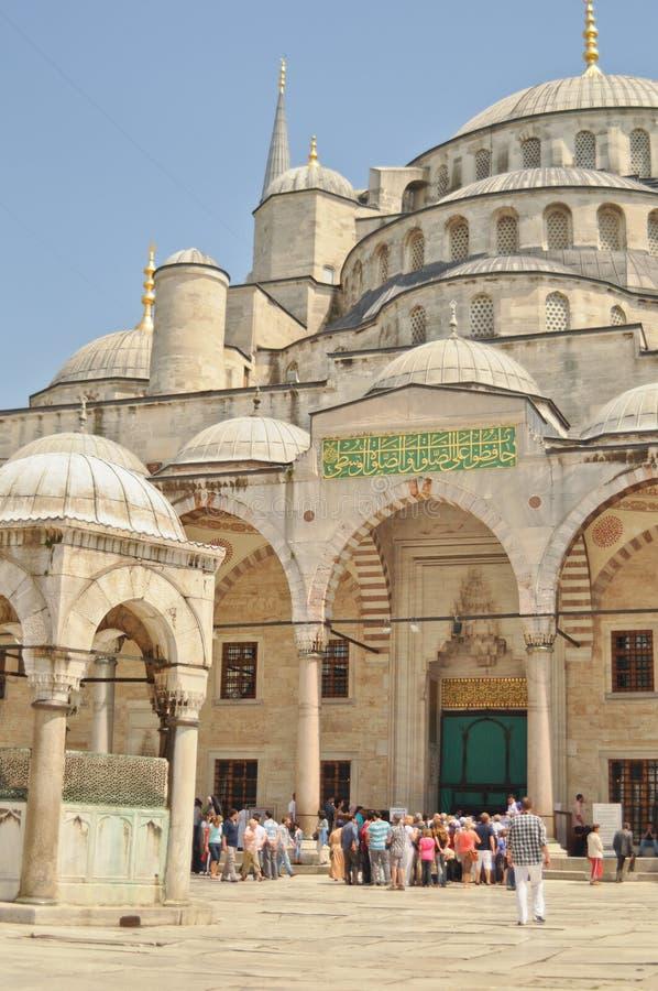 sultanahmet podwórzowi meczetowi turyści zdjęcie stock