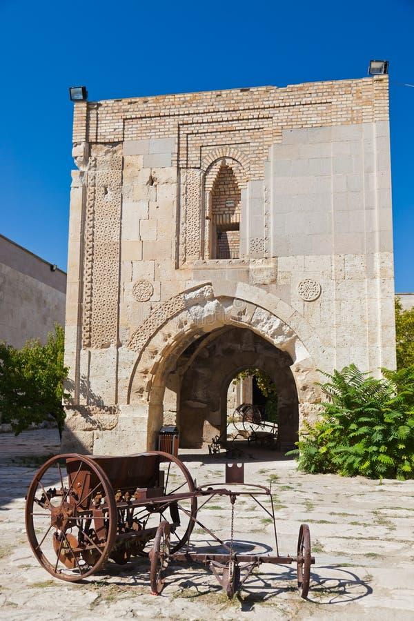 Sultanhani商队投宿的旅舍的庭院在土耳其的 库存图片