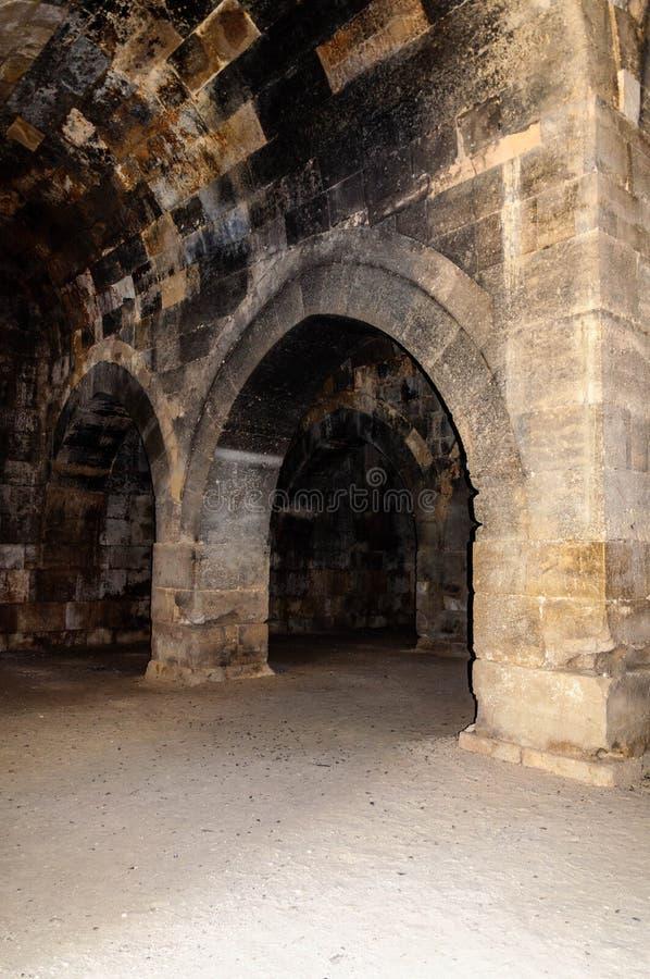 Sultanhani商队投宿的旅舍,阿克萨赖,土耳其 丝绸之路 主要大厅 库存图片
