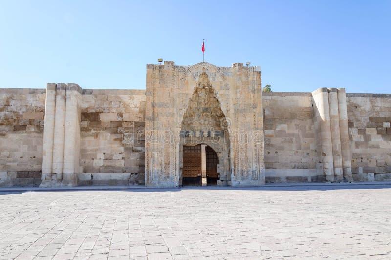 Sultanhani商队投宿的旅舍,阿克萨赖,土耳其 丝绸之路 免版税库存图片