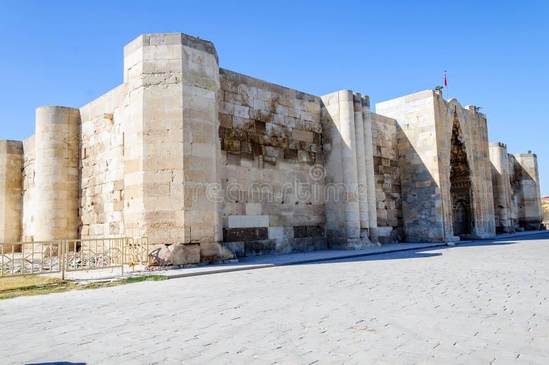 Sultanhani商队投宿的旅舍,阿克萨赖,土耳其 丝绸之路 图库摄影