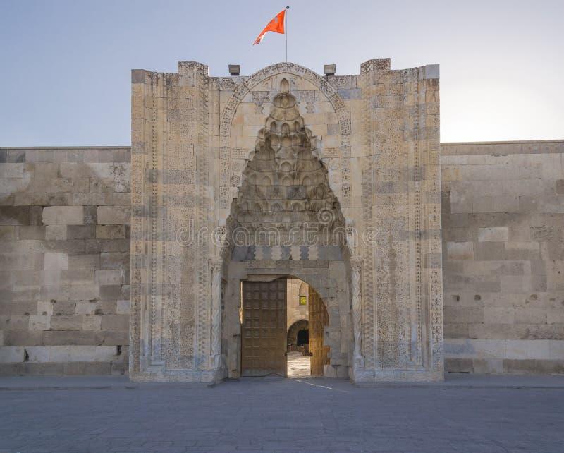 Sultanhani商队投宿的旅舍 免版税库存图片