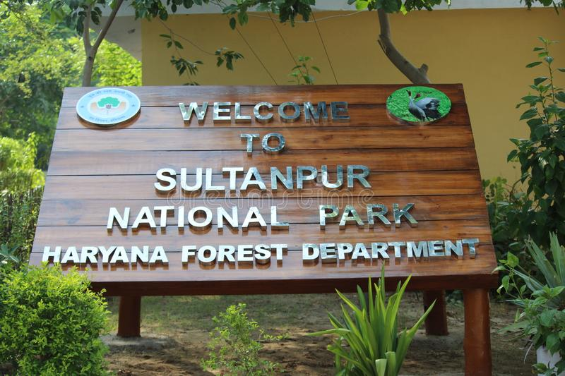 Sultanpur National Park. Located in Gurugram, Haryana. The park is famous for local and migratory birds royalty free stock images