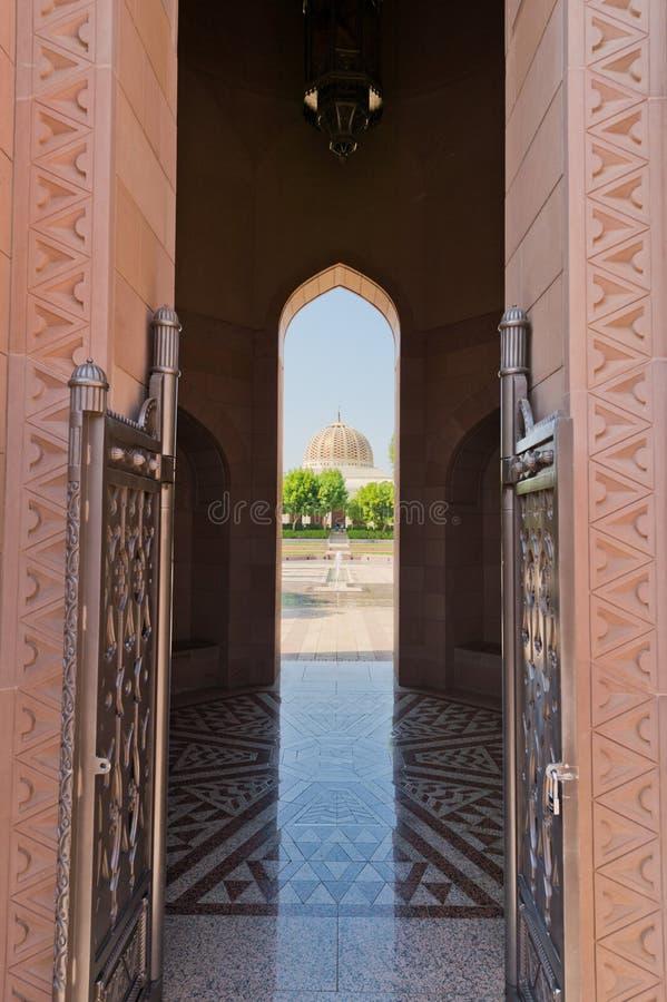 SultanQaboos moské arkivfoto