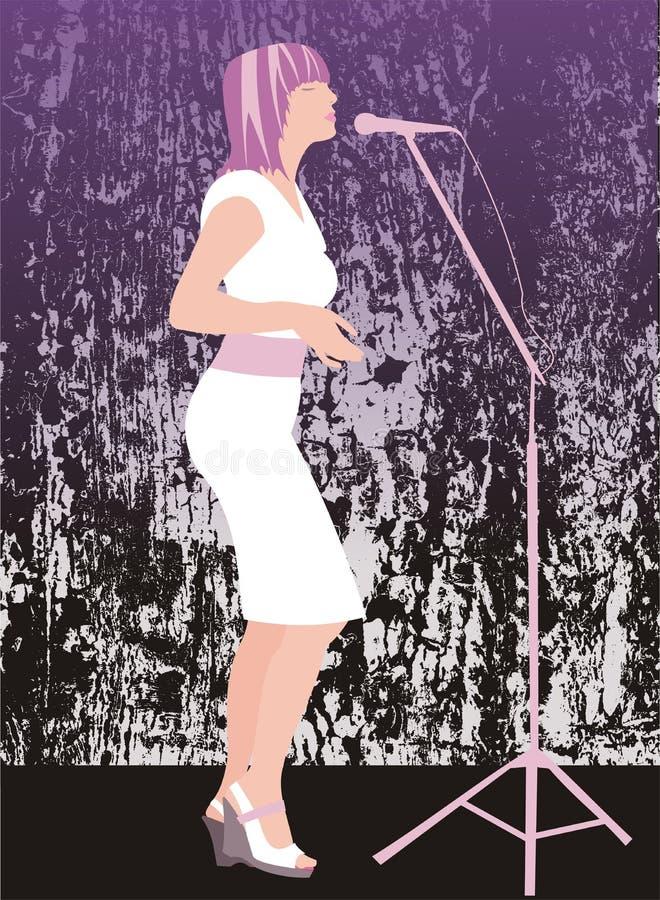 Download Sultry singer stock illustration. Image of girl, illustration - 776350