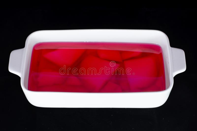 Sulu muhallebi with pudding inside the rose syrup water stock photos