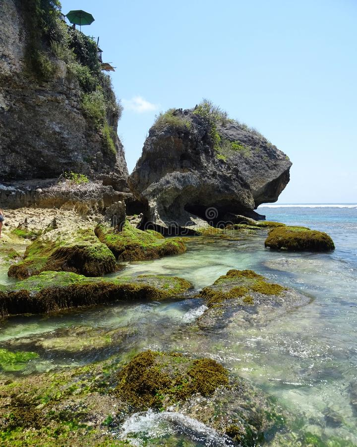 Suluban beach stock photo
