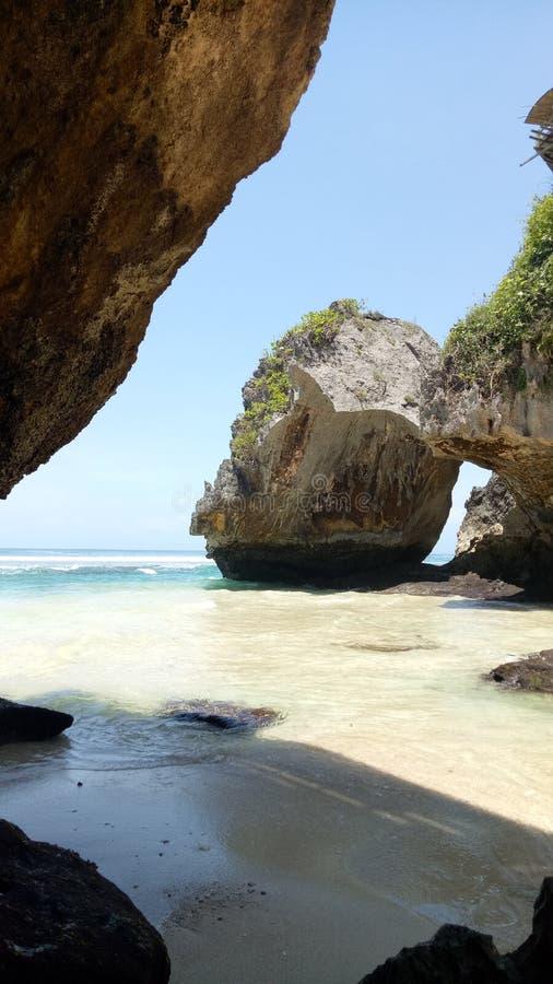 Suluban strand arkivfoton