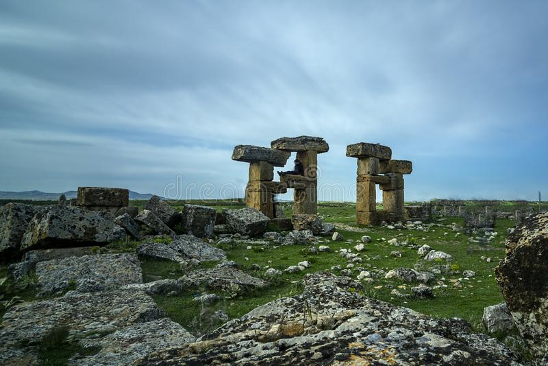 Sulumenli van de Blaundos oude stad, Usak, Turkije royalty-vrije stock afbeelding