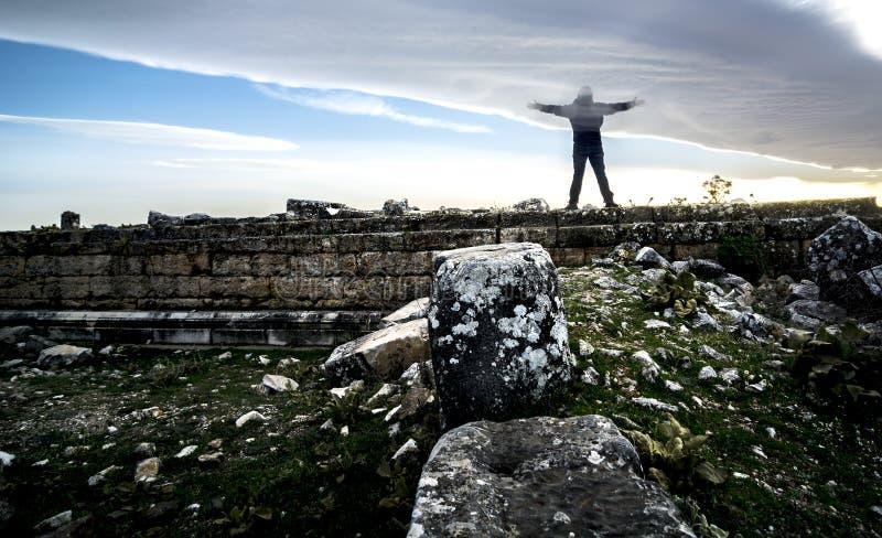 Sulumenli van de Blaundos oude stad, Usak, Turkije royalty-vrije stock foto
