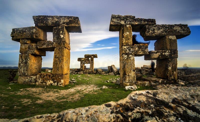Sulumenli van de Blaundos oude stad, Usak, Turkije royalty-vrije stock fotografie