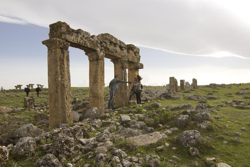 Sulumenli van de Blaundos oude stad, Usak, Turkije stock afbeelding