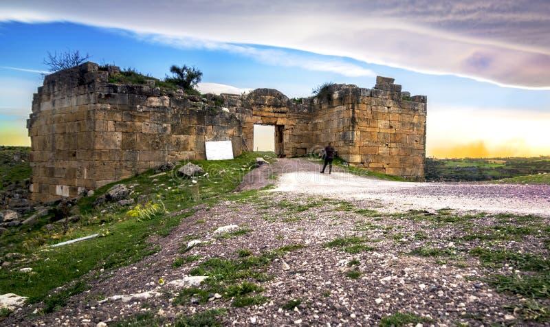 Sulumenli van de Blaundos oude stad, Usak, Turkije stock foto's