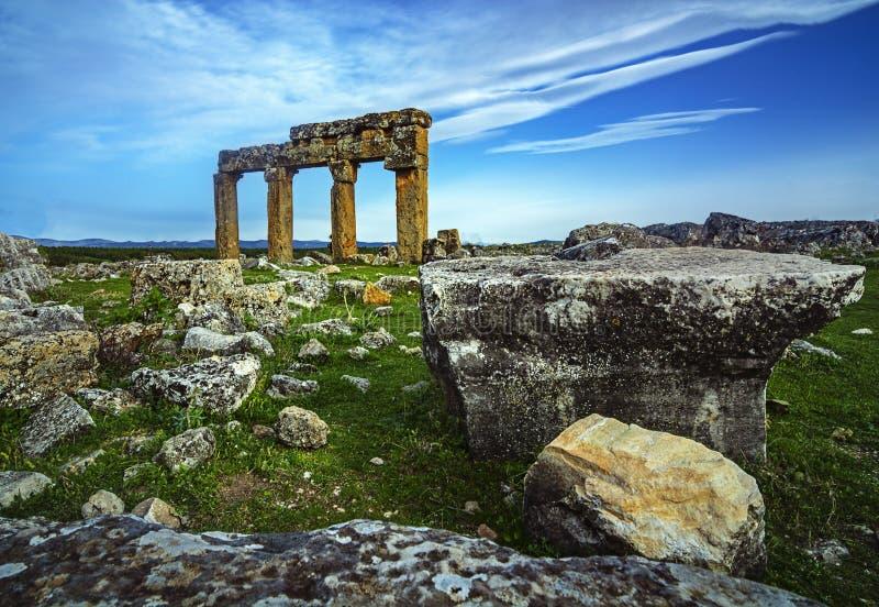 Sulumenli van de Blaundos oude stad, Usak, Turkije royalty-vrije stock afbeeldingen