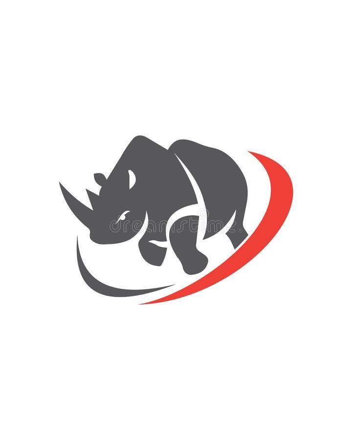 Sumário abstrato do seguro comercial do vetor do rinoceronte ilustração royalty free