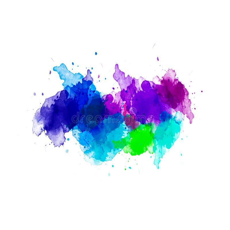 Sumário acrílico Close up da pintura Fundo abstrato colorido ilustração do vetor
