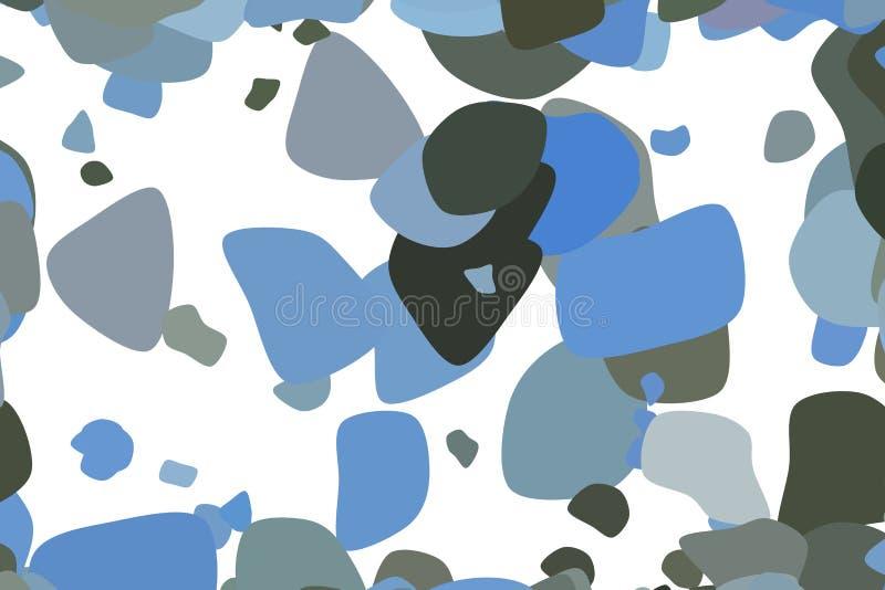 Sumário aleatório artístico do teste padrão do fundo das formas arredondadas Web, tampa, conceito & decoração ilustração royalty free