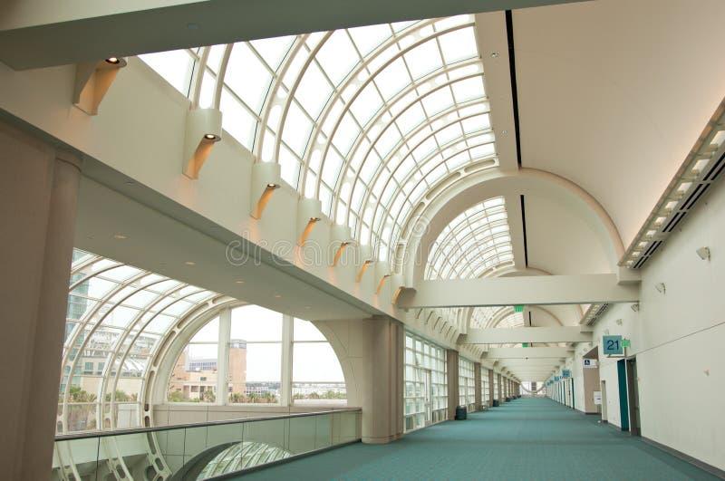 Sumário arquitectónico do centro de convenção de San Diego foto de stock