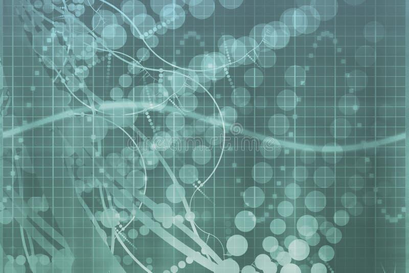 Sumário azul da tecnologia da ciência médica ilustração royalty free