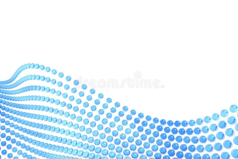 Sumário azul das esferas ilustração do vetor