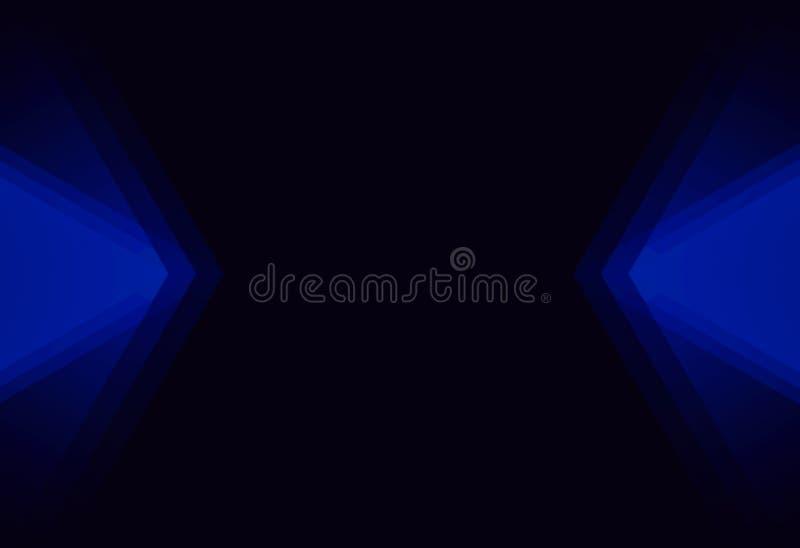 Sumário azul de incandescência moderno fotos de stock