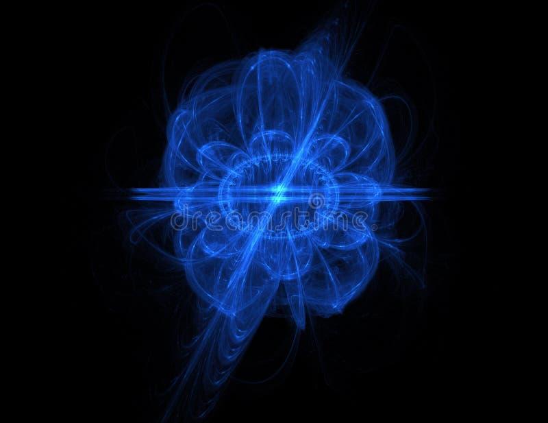 Sumário azul do campo da energia ilustração stock