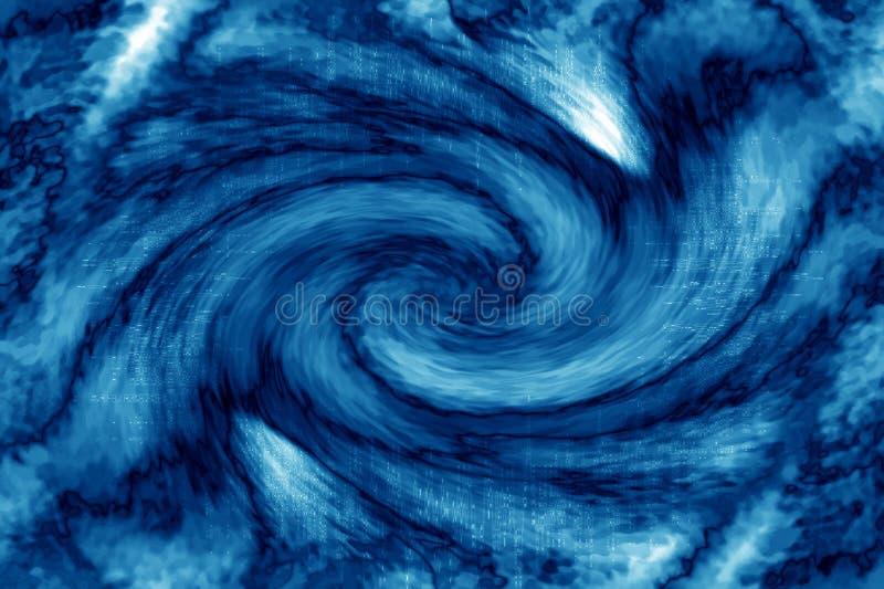 Sumário azul do Vortex ilustração royalty free
