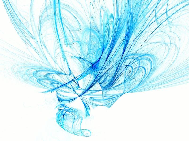 Sumário azul no branco ilustração royalty free