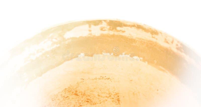 Sumário: cerâmico desvaneça-se -- empalideça a curva alaranjada da cuba cerâmica fotos de stock royalty free