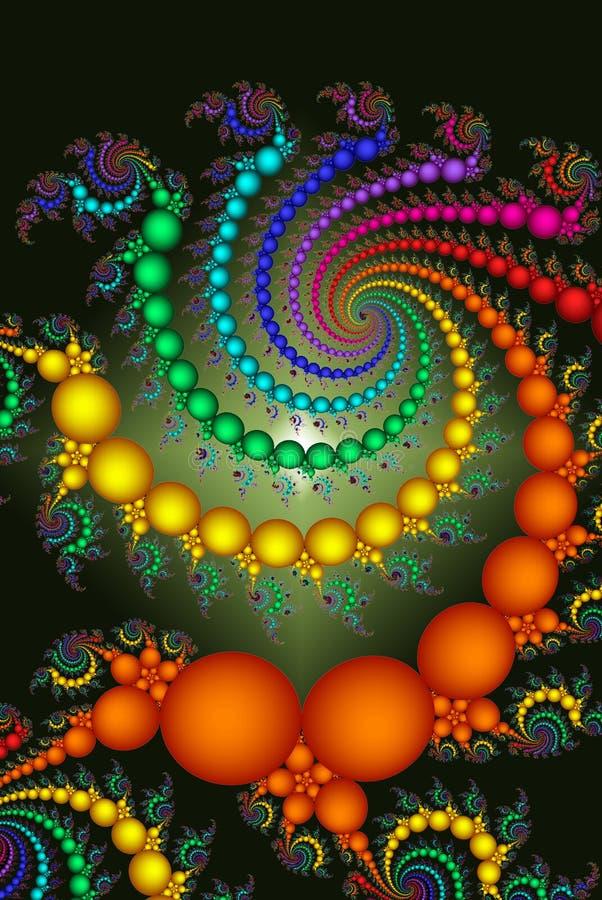 Sumário colorido brilhante dos grânulos