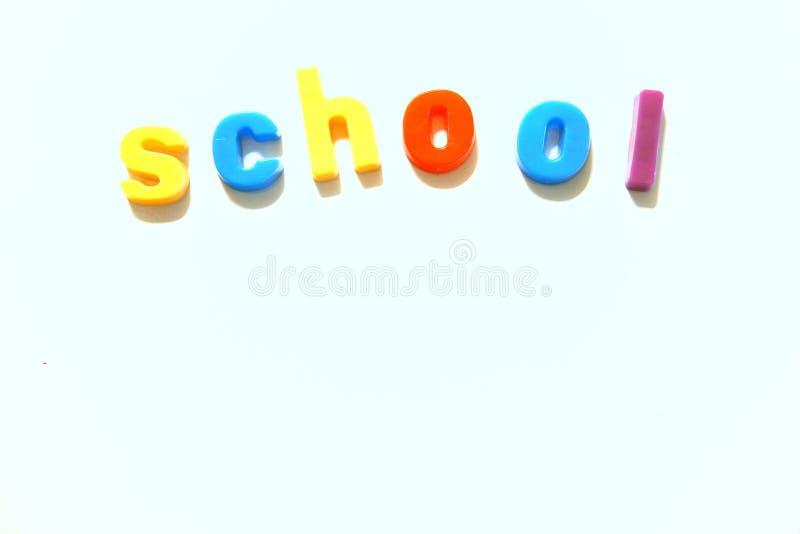 Sumário colorido da escola imagem de stock royalty free