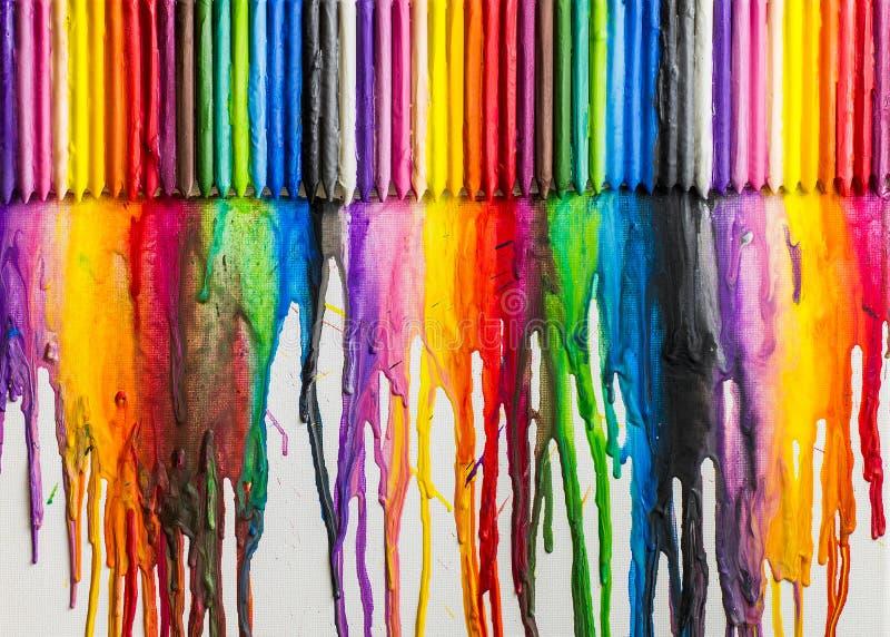 Sumário colorido derretido dos pastéis ilustração do vetor