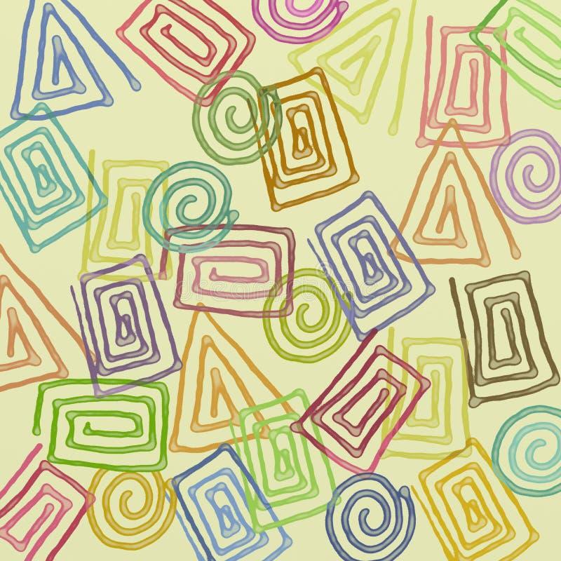Sumário colorido do fundo ilustração do vetor