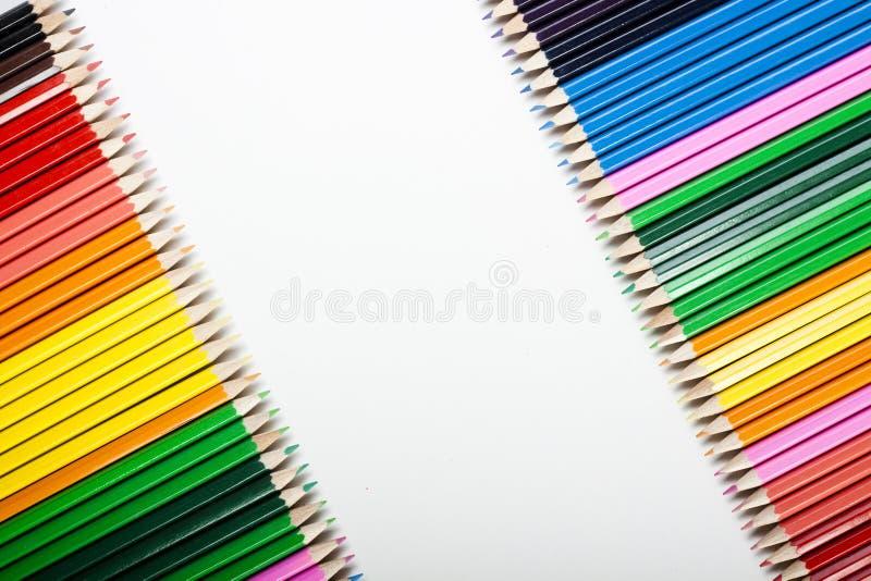 Sumário colorido dos lápis! imagem de stock royalty free