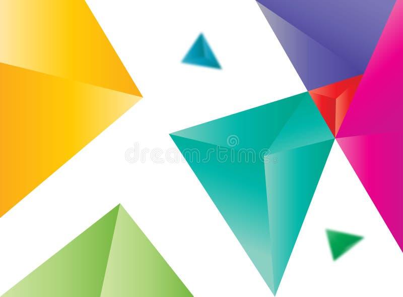 Sumário colorido vetor dos triângulos ilustração stock