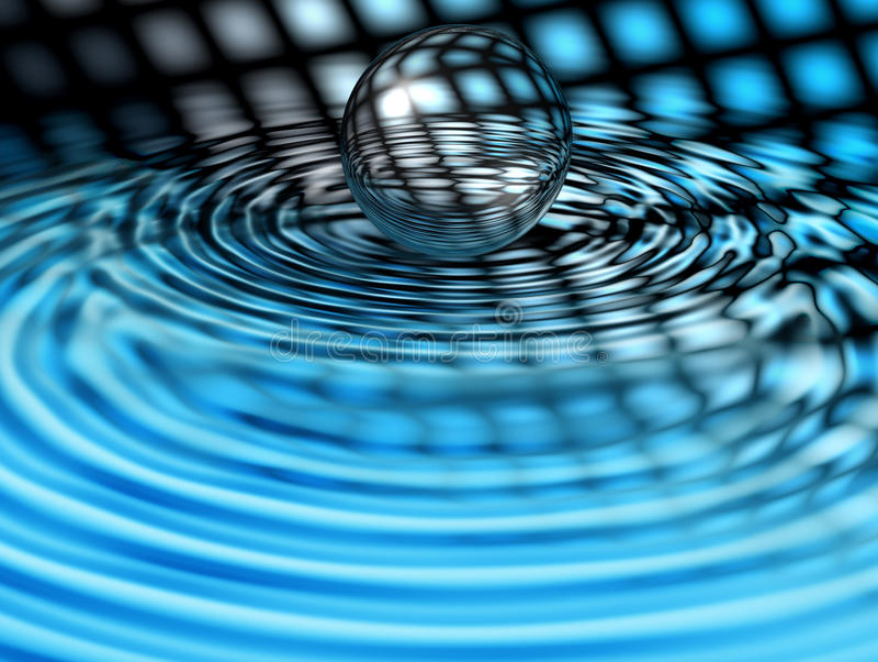 Sumário com esfera de vidro ilustração stock